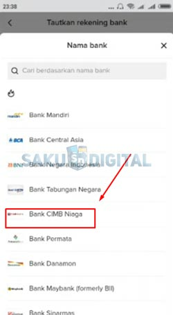9 Pilih Nama Bank 1