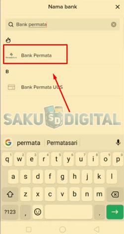 9 Pilih Nama Bank