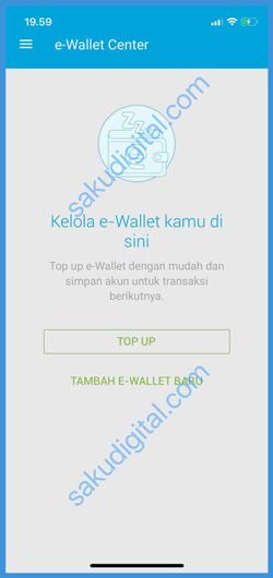 Klik Tambah E Wallet Baru