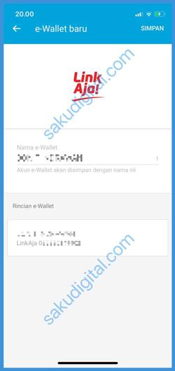 Konfirmasi E Wallet Baru