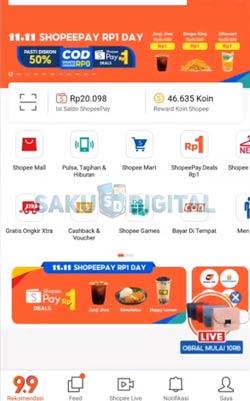 1 Buka Aplikasi Shopee 3