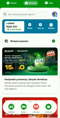 5 Buka Aplikasi Gojek