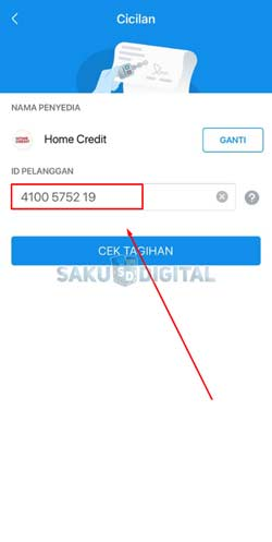 5 Input ID Pelanggan