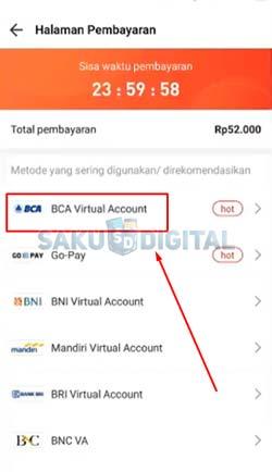 6 Pilih BCA Virtual Account