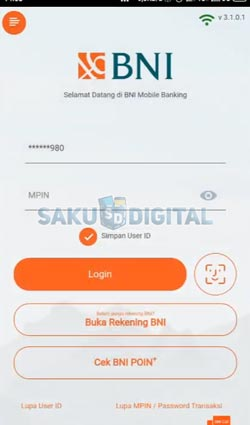 1 Buka Aplikasi BNI Mobile