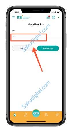 15 Input PIN BSI Mobile