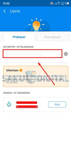 3 Input ID Pelanggan