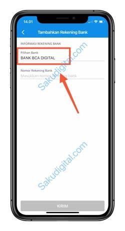 4 Pilih Nama Bank Blu BCA