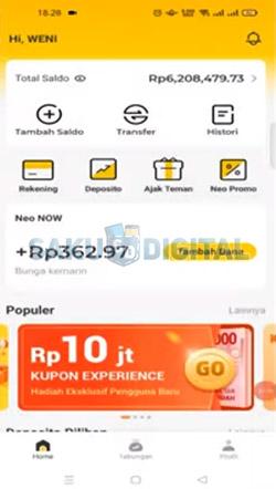 6 Buka Aplikasi Bank Neo