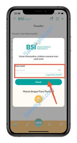 9 Input Password BSI Mobile