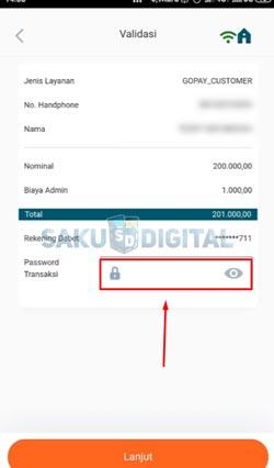 9 Masukkan Password Transaksi