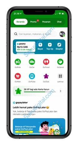 1 Buka Aplikasi GojekCara Beli Pulsa Pakai Gopay Paylater