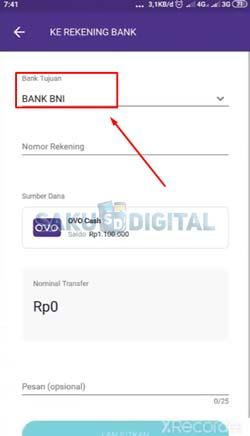 11 Pilih Bank Tujuan