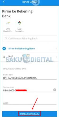 13 Klik Tambah Bank Baru