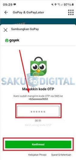 5 Input Kode OTP