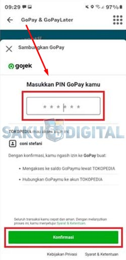 6 Masukkan PIN Gopay